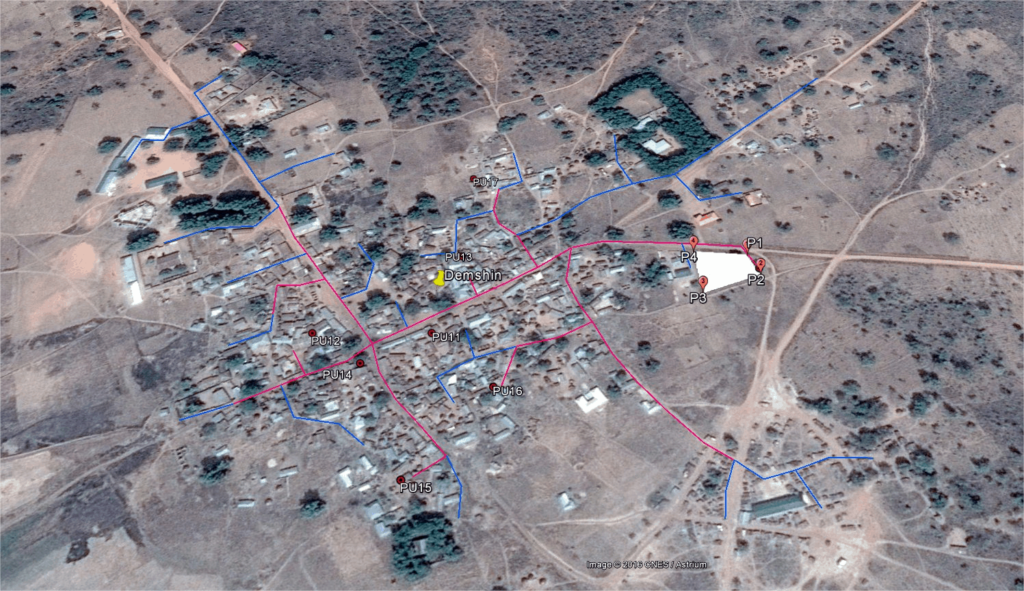Aerial view of Demshin Community